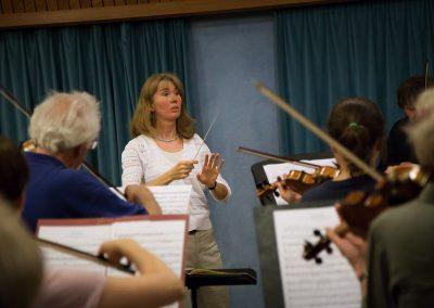 Proben zu Ludwig van Beethoven: Romanze für Violine und Orchester in F-dur op. 50 und G-dur op. 40 (Thorsten Hamann)